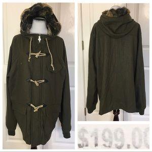 NWT! LRG Clothing Equipment wool blend coat
